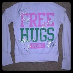 Victoria's Secret PINK white hoodie
